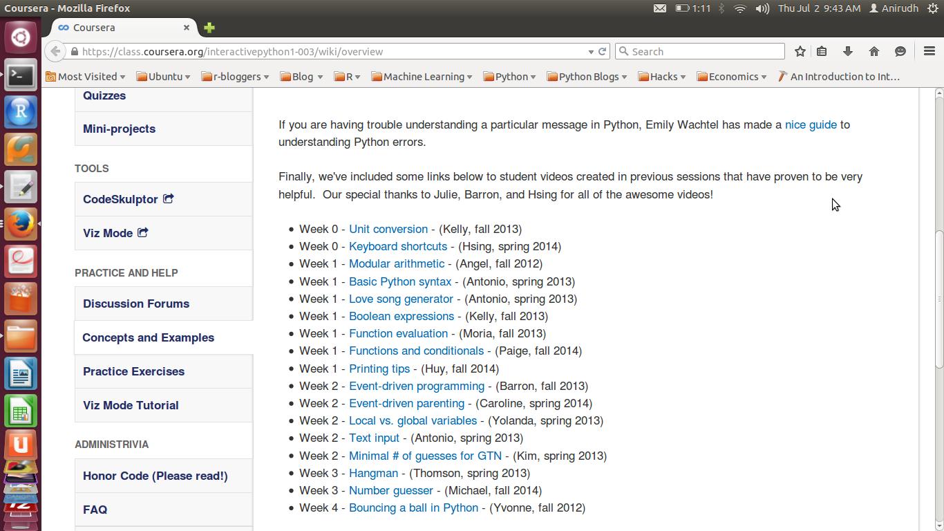 Coursera | Discovering Python & R